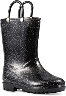 Lilly of New York Chillipop Children's Glitter Rain Boots for Little Kids & Toddlers, Boys & Girls
