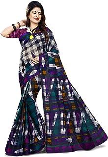 Moringa Women's Cotton Saree With Blouse Piece