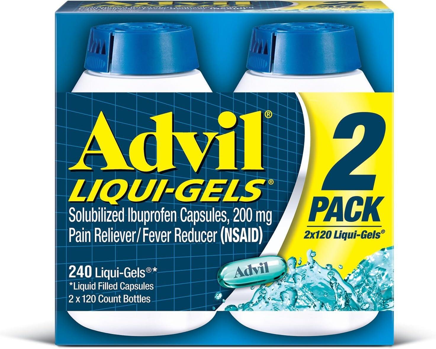Advil Liquid Outlet sale feature Gels - Fashionable Value Size 120 Count Each 2 Pack