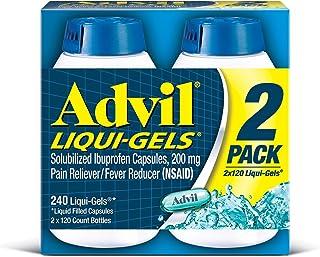 Advil Liquid Gels - Value Size 2 Pack (120 Count Each )