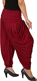 Fashion and Freedom Women's Patiala Bottoms(F_SP_DH_M _Red_Free Size)