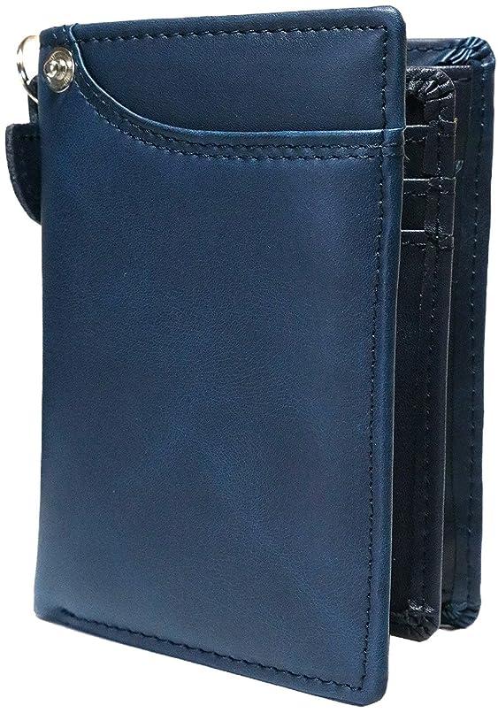 葉を拾ううなる不要[Berkut] 【艶消し加工レザー】高級 本革 軽量 二つ折り財布 ファスナーなし コンパクト BOX付き 1030079