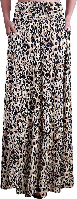 Doublju Womens Long Light Maxi Style Waist Skirt