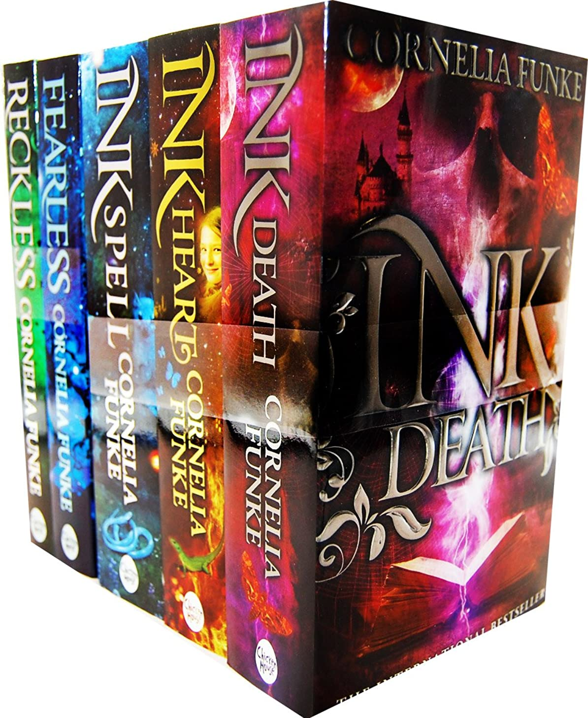 Cornelia Funke Inkheart Trilogy and Reckless 5 Books Collection Set RRP: ?£37.95 (Inkspell, Inkheart, Inkdeath, Reckless, Fearless)