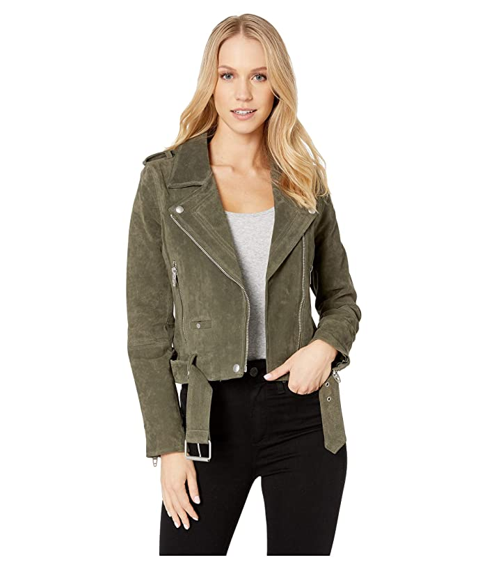 Blank NYC Suede Moto Jacket in Herb Women's Coat