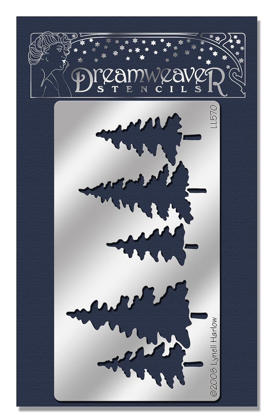 Stampendous Dreamweaver Metal Stencil, Pine Trees