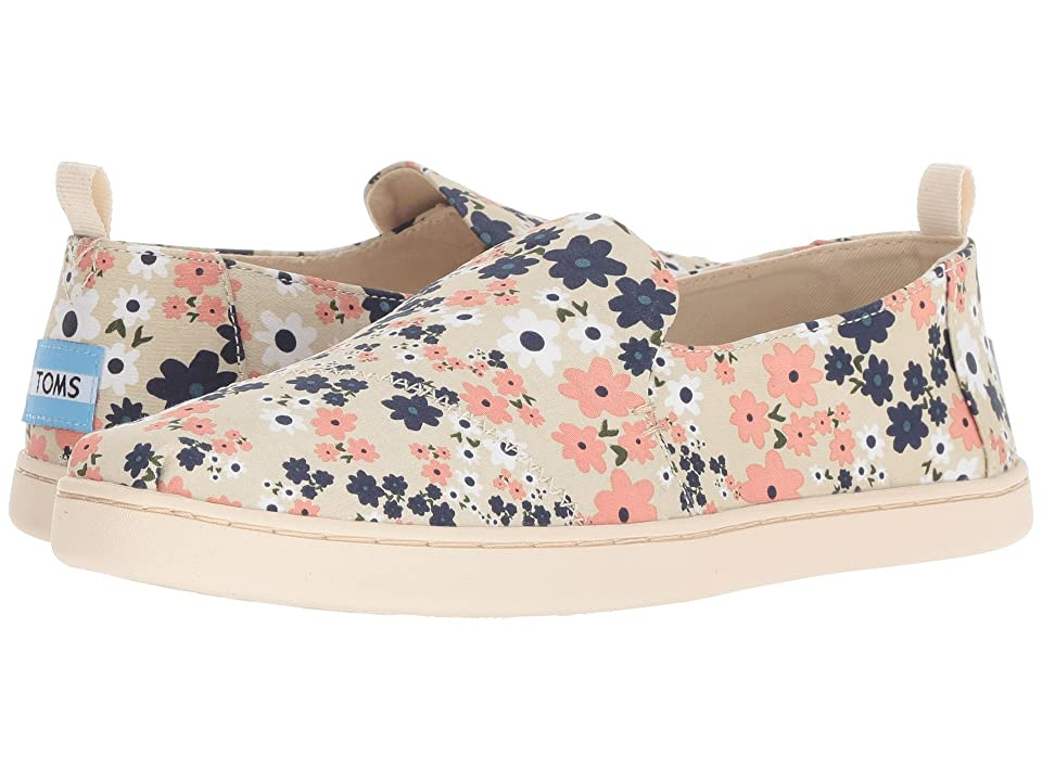 TOMS Deconstructed Alpargata (Birch Retro Floral) Women