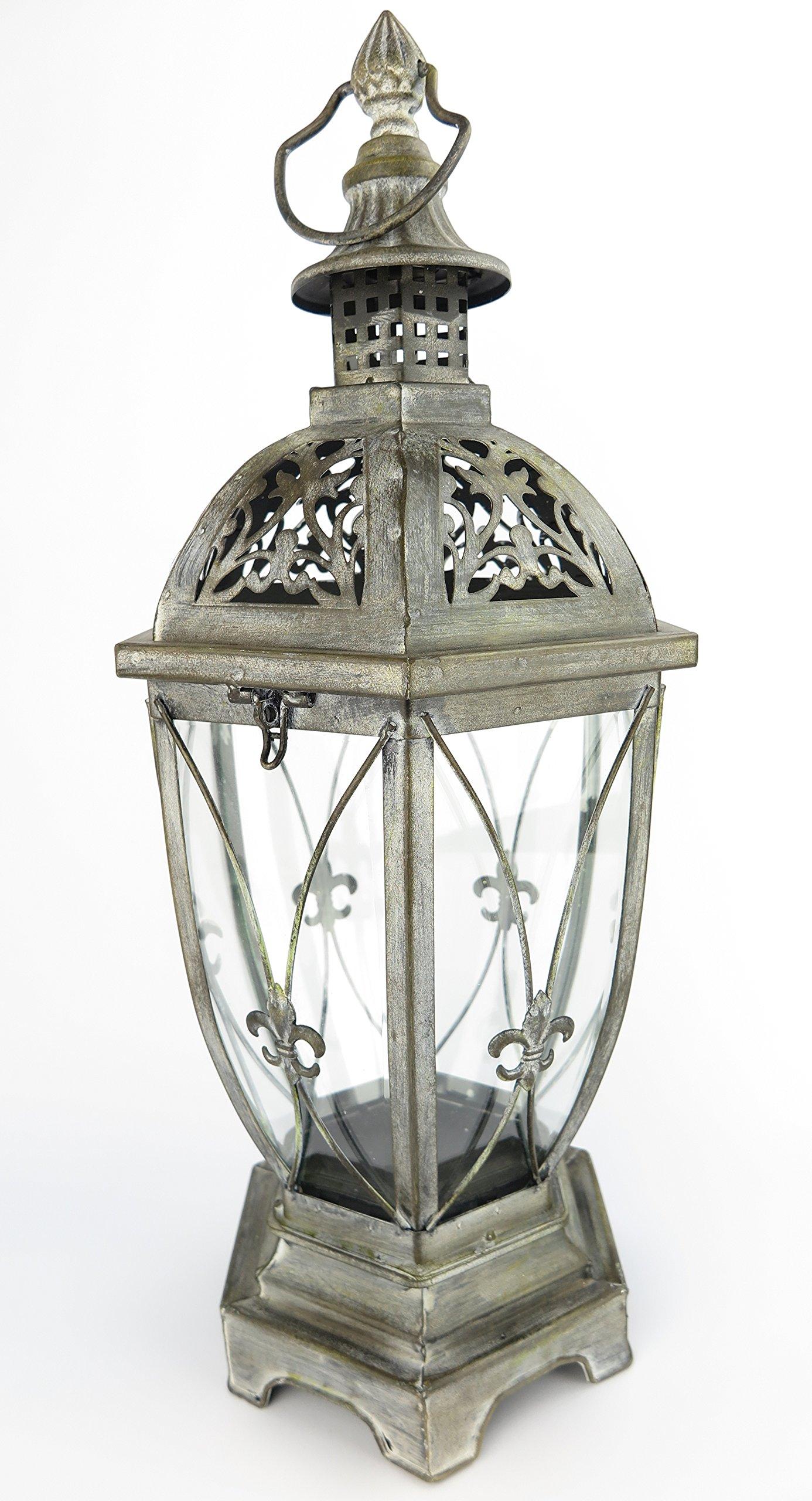 Exklusive Farol portavelas XXL Negro Interior/Exterior Protector de viento Vela Linterna de jardín Metal Retro lámpara estilo antiguo: Amazon.es: Jardín