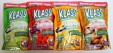 Klass Sweetened Flavored Drink Mixes 9 Quart Variety Packs (4 Variety Packs)