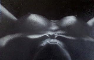 Pintura acrílica sobre lienzo/Desnudo femenino / 100% pintado a mano en blanco y negro/Firmado original Arte gay Venta/Sex...