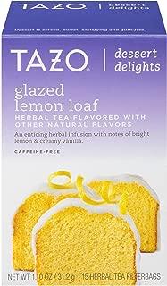 Tazo Glazed Lemon Loaf Dessert Delights Tea Bags 15c Black Tea filterbags, total 1.10 oz , pack of 1