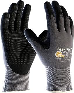 3 Pack MaxiFlex Endurance 34-844 Seamless Knit Nylon Work Glove with Nitrile Coated Grip..