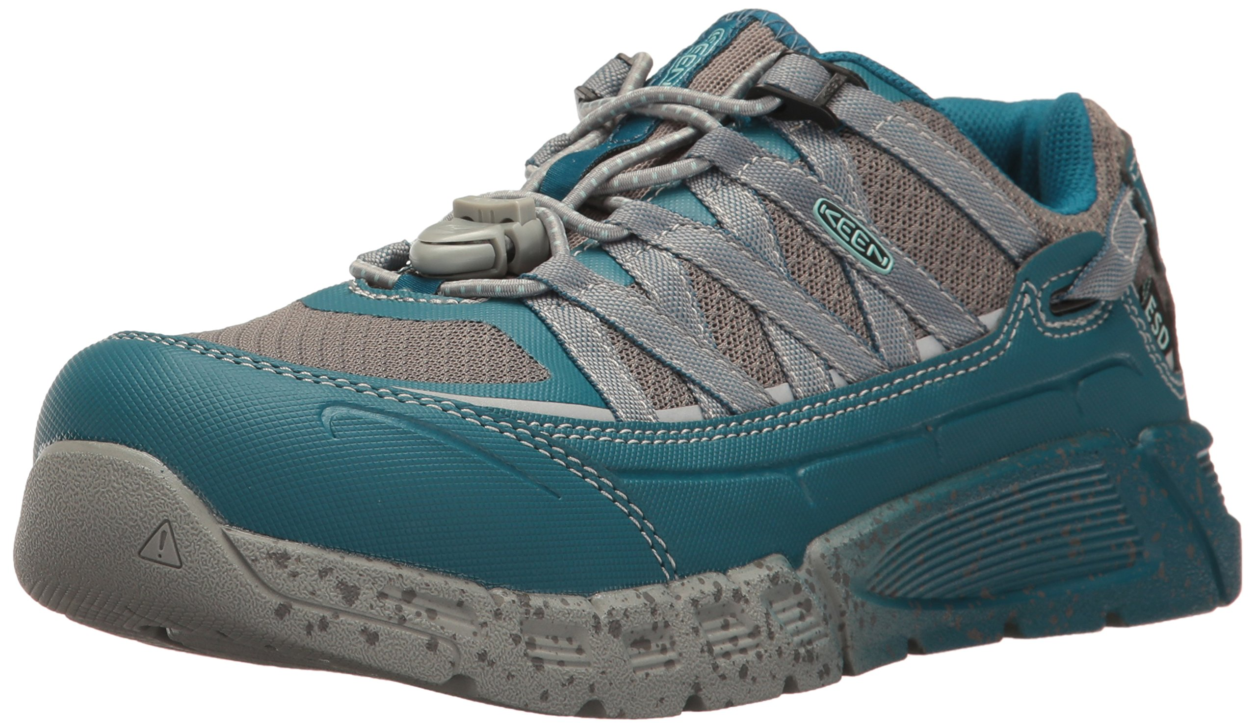 KEEN Utility Women's Asheville at ESD Industrial & Construction Shoe, Ink Eggshell Blue