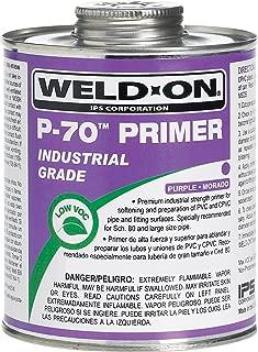 Weldon 10227 P-70 Purple PVC/Cpvc Primer Low-Voc, 1/2 Pint, Purple