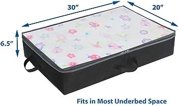 Black Simple Houseware 2 Pack Under Bed Storage Bin