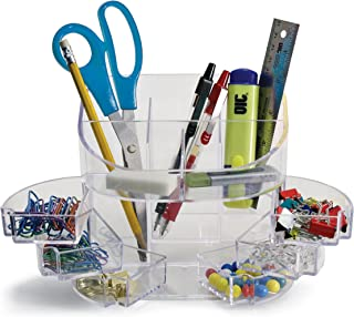 Officemate 2200 Series Executive Double Supply Organizer, Clear (22824)