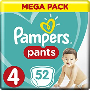 Pampers Pants, Size 4, Maxi, 9-14 kg, Mega Pack, 52 Diapers