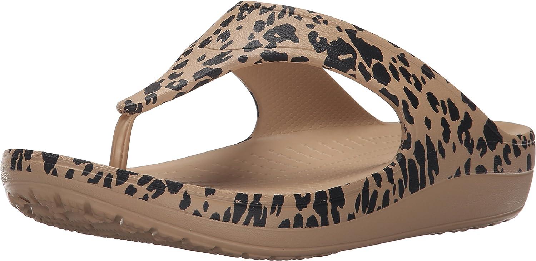 Crocs Damen Sloane Leopard Flip damen Sandalen, Sandalen, Sandalen, Gold  9eceed