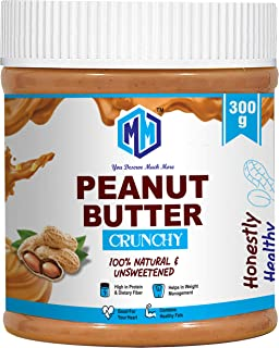 MUCHMORE NUTRITION All Natural Peanut Butter (Cunchy) | Unswreetened | 32g Protein | Non GMO | Gluten Free | Cholesterol F...