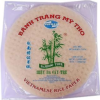 Papel de arroz vietnamita redondo 22cm 340g Verano Rollo Goi Cuon Banh Trang Fresh Spring Roll