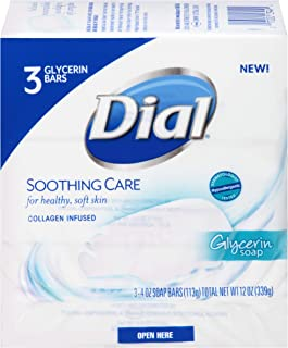 Dial Soothing Care Glycerin Soap Bars, 12 OZ