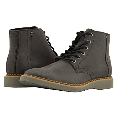 TOMS Porter Water-Resistant Boot (Black Leather) Men