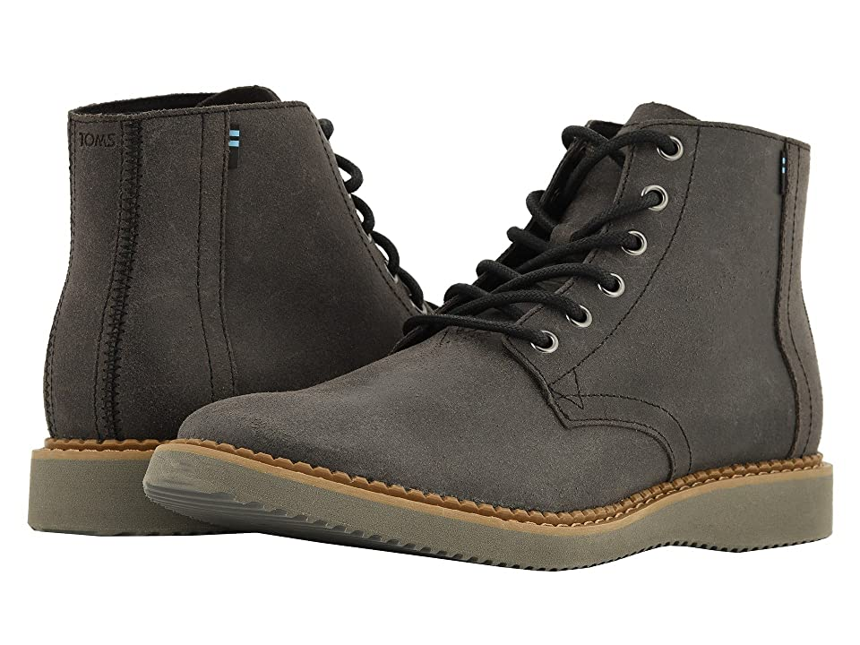 TOMS Porter Water-Resistant Boot (Black Leather) Men