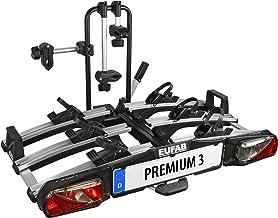 """Eufab 11522 bagagedrager """"Premium III"""" voor trekhaak inklapbaar 3 fietsen, geschikt voor e-bikes"""