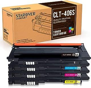 STAROVER Compatible Toner Cartridge Replacement for Samsung 406 CLT-K406S CLT-C406S CLT-M406S CLT-Y406S for CLX-3300 CLX-3305 CLX-3305FW CLX-3305FN CLP-360 CLP-365 CLP-365W Xpress SL-C410W SL-C460FW