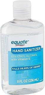 Equate Hand Sanitizer kills 99.99% germs With Vitamin E, 8 OZ