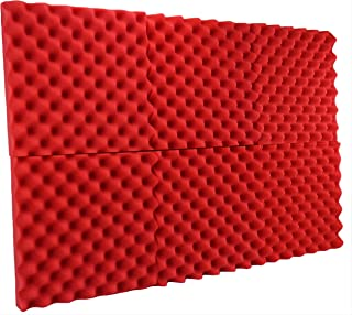 New Level 6 Pack - All Red Acoustic Panels Studio Foam Egg Crate 2
