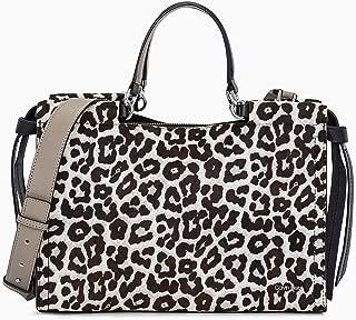 Calvin Klein womens Calvin Klein Callie Snow Leopard Haircalf Knotted Satchel