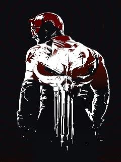 Gryposaurus Daredevil Punisher Logo Comics Poster 18 × 24 Inches