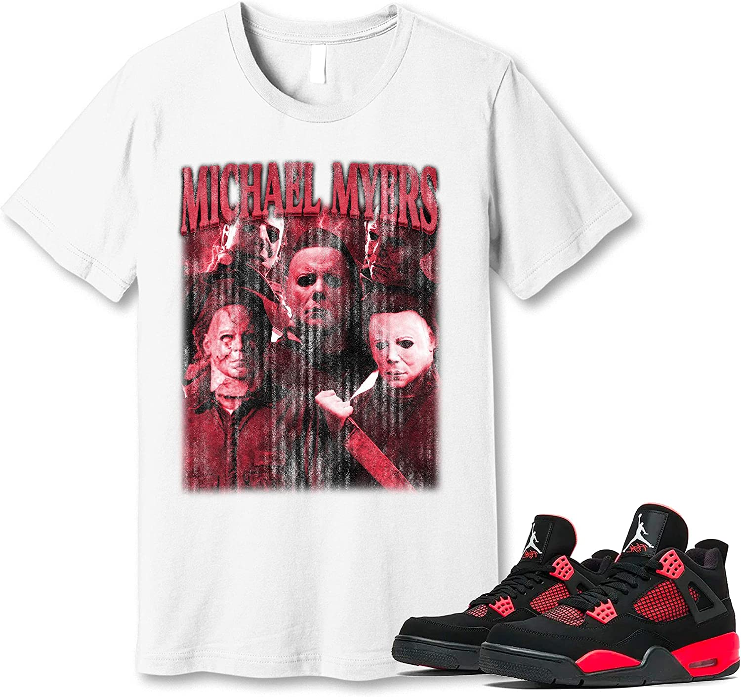 Fixed price for sale #Michael #Myer T-Shirt to Match Jordan Sneaker Snk Credence Red Thunder 4