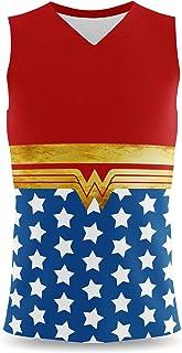 Rainbow Rules Wonder Woman Super Hero Inspired Mens Sleeveless Tank Top
