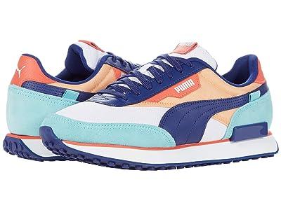 PUMA Future Rider Courtside (Puma White/Angel Blue/Elektro Blue/Peach Cobbler) Shoes