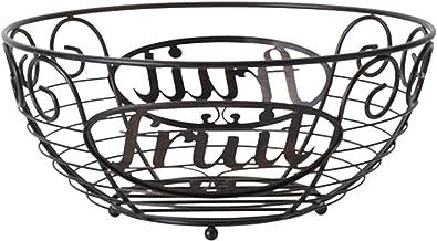 Gourmet Basics by Mikasa Chit Chat Fruit Basket, Standard, Black