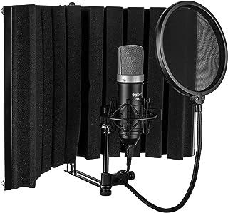 استودیوی ضبط خانگی USB استعدادیابی همه در یک - غرفه ووکال - USB Mic - Shock Mount - فیلتر پاپ