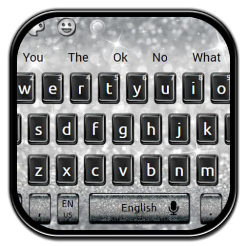 Black Silver Glitter Keyboard Theme