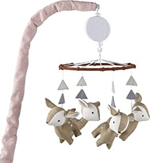Levtex Baby Delia Brown and White Woodland Deer Musical Mobile
