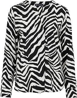 Marks & Spencer Women's Zebra Print V-Neck Long Sleeve Blouse