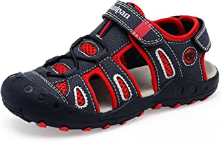 Henraly Boys Stone Line Closed Toe Anti-Collision Soft Fisherman Sandals (Toddler/Little Kid/Big Kid)