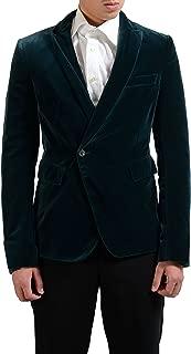 Men's Wool Velvet One Button Blazer Sport Coat US 40 IT 50