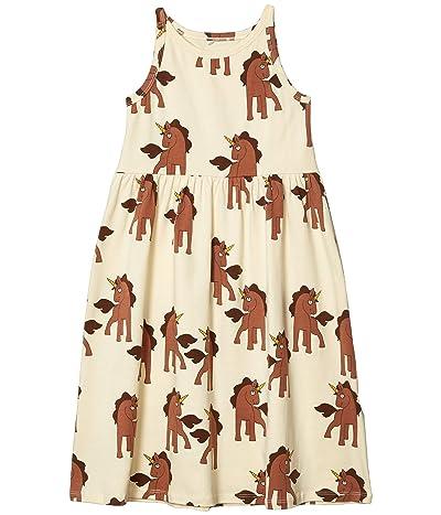 mini rodini Unicorns All Over Printed Tank Dress (Toddler/Little Kids/Big Kids) (Off-White) Girl
