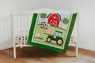 Tractor Crib Bedding Nursery Set, Born to Farm