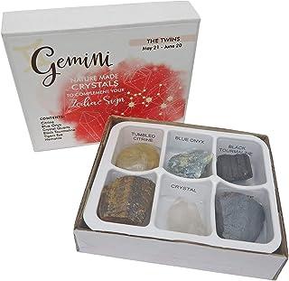 Rock Paradise Horoscope Stone Box Set - Gemini Zodiac Sign - Healing Crystals Birthstone Charms - Astrology Crystal Healin...