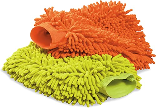 Cuerpo de lavado premium de microfibra Carrand Esponja Paquete de 4-Rojo