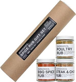 Ingredients: Spice Rub Gift Set - BBQ - Poultry - Steak & Chop