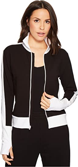 KAMALIKULTURE by Norma Kamali Side Stripe Turtle Jacket
