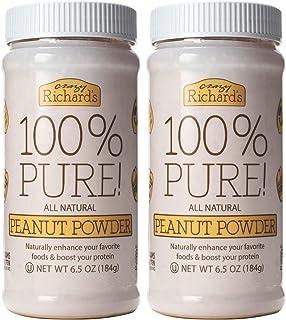 Crazy Richard's 100% Pure Peanut Butter Powder 6.5 oz Jar (100% Pure Peanut Butter Powder 6.5 oz, 2 Jars)